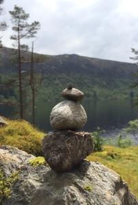 Stone balancing, Loch Ossian
