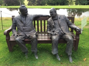 Roosevelt and Churchill at Chatsworth House