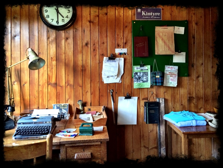 Office frozen in time (at the Highland Folk Museum)