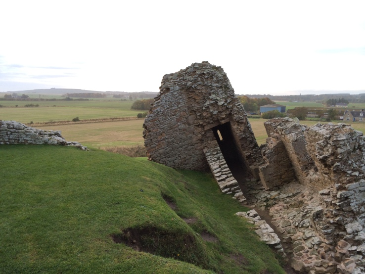 The walls of Duffs Castle undermined
