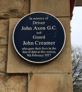 John Axon and John Creamer commemorated at Chapel-en-le-Frith station